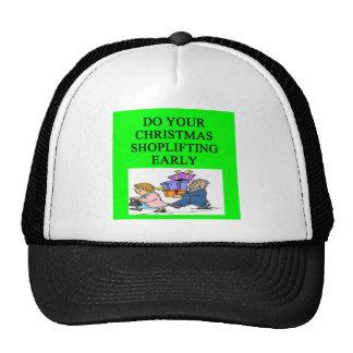 CHRISTMAS shoplifting joke Mesh Hats