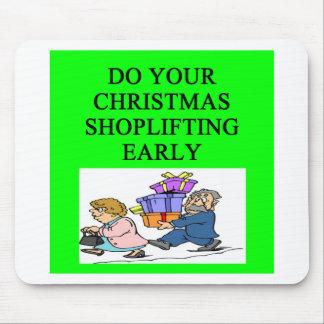 CHRISTMAS shoplifting joke Mouse Pad