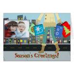 Christmas Shopper Photo Template Greeting Card