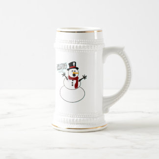Christmas Shoppers! Beer Stein