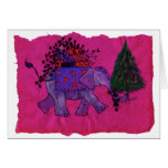 Christmas Shopping (pink) Greeting Cards
