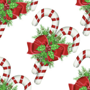 Christmas Shower Curtain Candy Canes