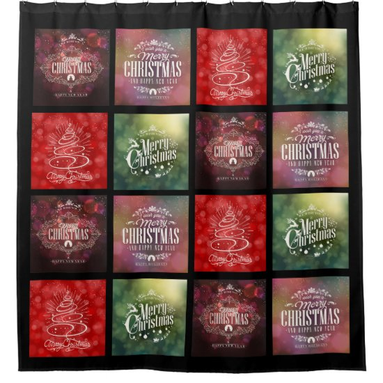 Christmas Shower Curtain - Quilt Theme