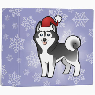 Christmas Siberian Husky / Alaskan Malamute Binder
