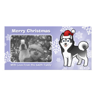 Christmas Siberian Husky / Alaskan Malamute Card