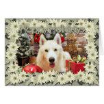 Christmas - Siberian Husky - Bailey Portait Card