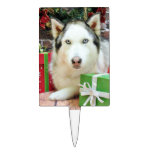 Christmas - Siberian Husky - Juliet Cake Pick