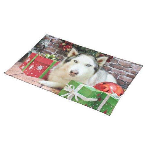 Christmas - Siberian Husky - Juliet Place Mat