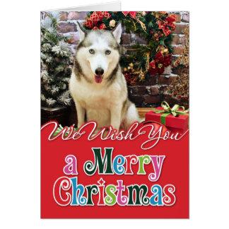 Christmas - Siberian Husky - Teagarden Portraits Card