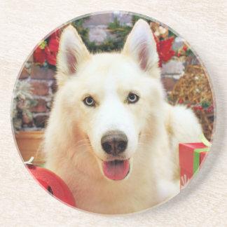 Christmas - Siberian Husky - Teagarden Portraits Coasters