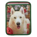 Christmas - Siberian Husky - Teagarden Portraits iPad Sleeves