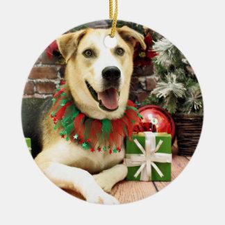 Christmas - Siberian Husky X - Harley Ceramic Ornament