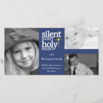 Christmas - Silent Night - 3 photo collage Holiday Card