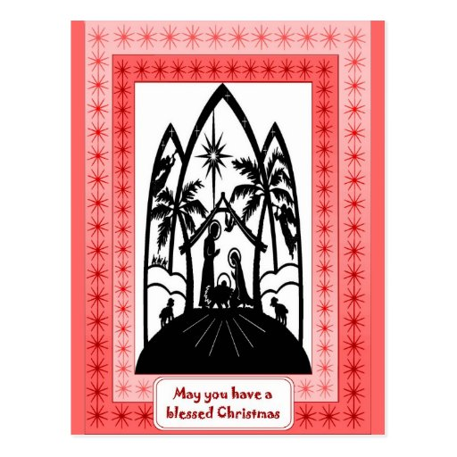 Christmas Silhouette postcard