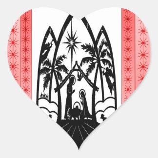 Christmas silhouette sticker
