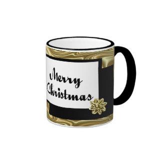 Christmas Silk Bow Ringer Coffee Mug