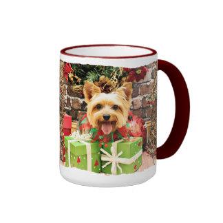 Christmas - Silky Terrier - Haley Ringer Mug