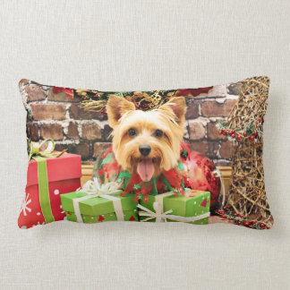 Christmas - Silky Terrier - Haley Throw Pillows