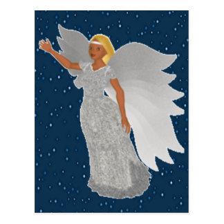 Christmas Silver Angel Postcard