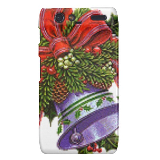 Christmas Silver Bell Droid RAZR Case