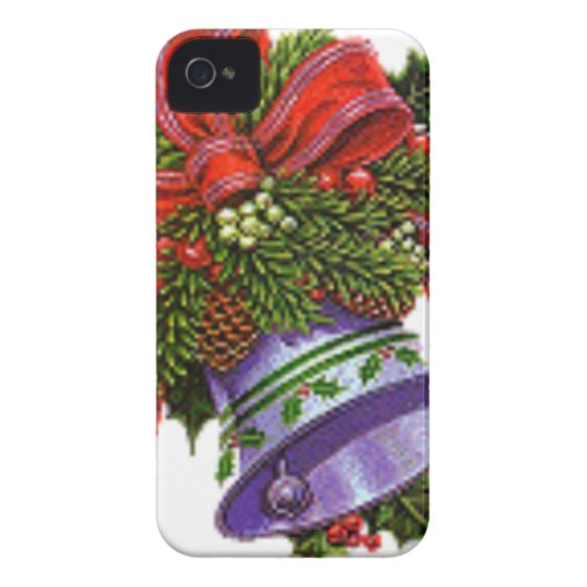 Christmas Silver Bell iPhone 4 Cover