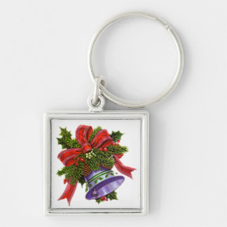 Christmas Silver Bell Keychain