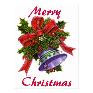 Christmas Silver Bell Postcard