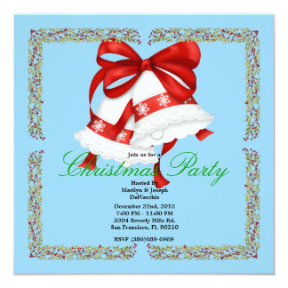 Christmas Silver Bells CUTE Christmas Party Holida Card
