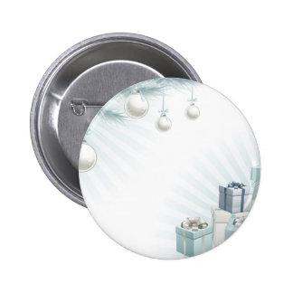Christmas silver blue corner elements pins