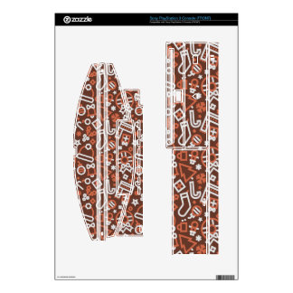 Christmas Silver on Red Icons Pattern Skins For The PS3