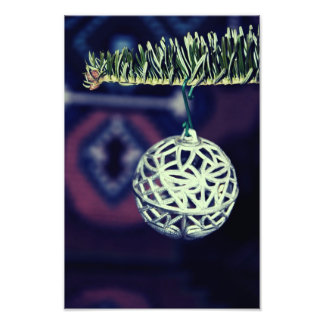 Christmas silver ornament photo