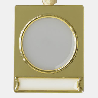 Christmas Silver Gold Plated Banner Ornament