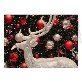 Christmas Silver Reindeer Cards