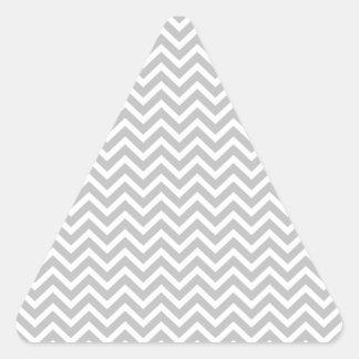 Christmas Silver & White Striped Chevron ZigZag Triangle Sticker