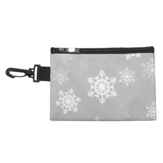 Christmas Silvery White Snow Flurries Accessories Bags