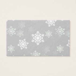 Christmas Silvery White Snow Flurries Business Card