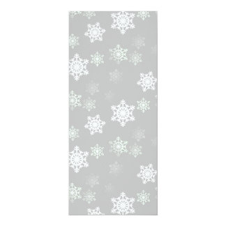 Christmas Silvery White Snow Flurries Card