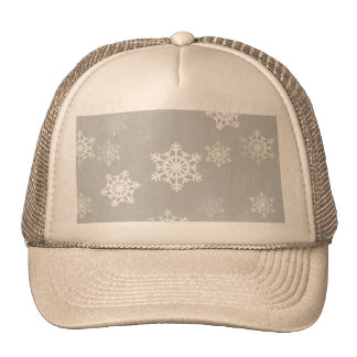 Christmas Silvery White Snow Flurries Mesh Hat