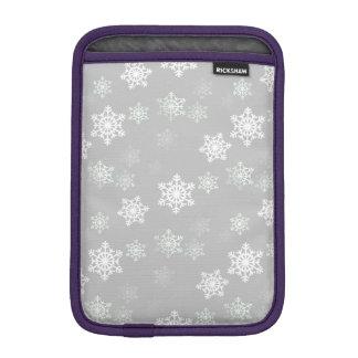 Christmas Silvery White Snow Flurries iPad Mini Sleeve