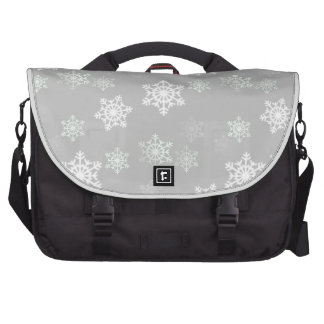 Christmas Silvery White Snow Flurries Commuter Bag
