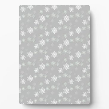 Valentines Themed Christmas Silvery White Snow Flurries Plaque