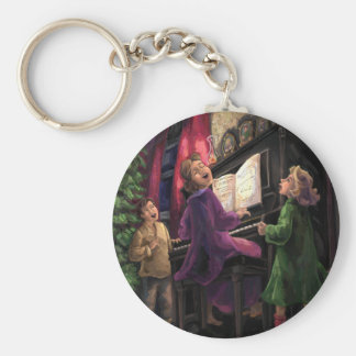 Christmas Sing Along Basic Round Button Keychain