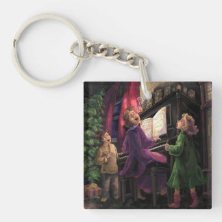 Christmas Sing Along Single-Sided Square Acrylic Keychain
