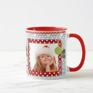 Christmas singer photo mug with video greetings