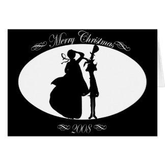 christmas-singers greeting card