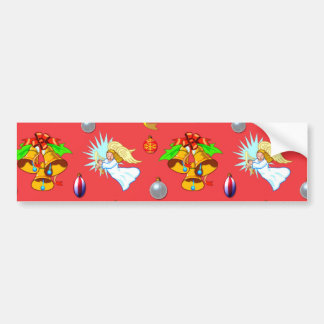 Christmas - Singing Angels & Golden Bells Car Bumper Sticker