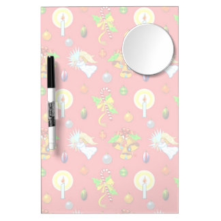 Christmas – Singing Angels & Golden Bells Dry Erase Board With Mirror