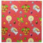 Christmas - Singing Angels & Golden Bells Cloth Napkin