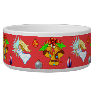 Christmas – Singing Angels & Golden Bells Dog Food Bowls