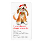Christmas singing dog return address labels